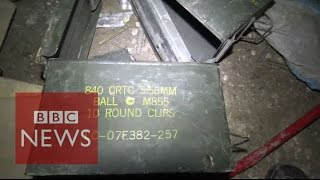 What was found in IS Iraq tunnels? BBC News