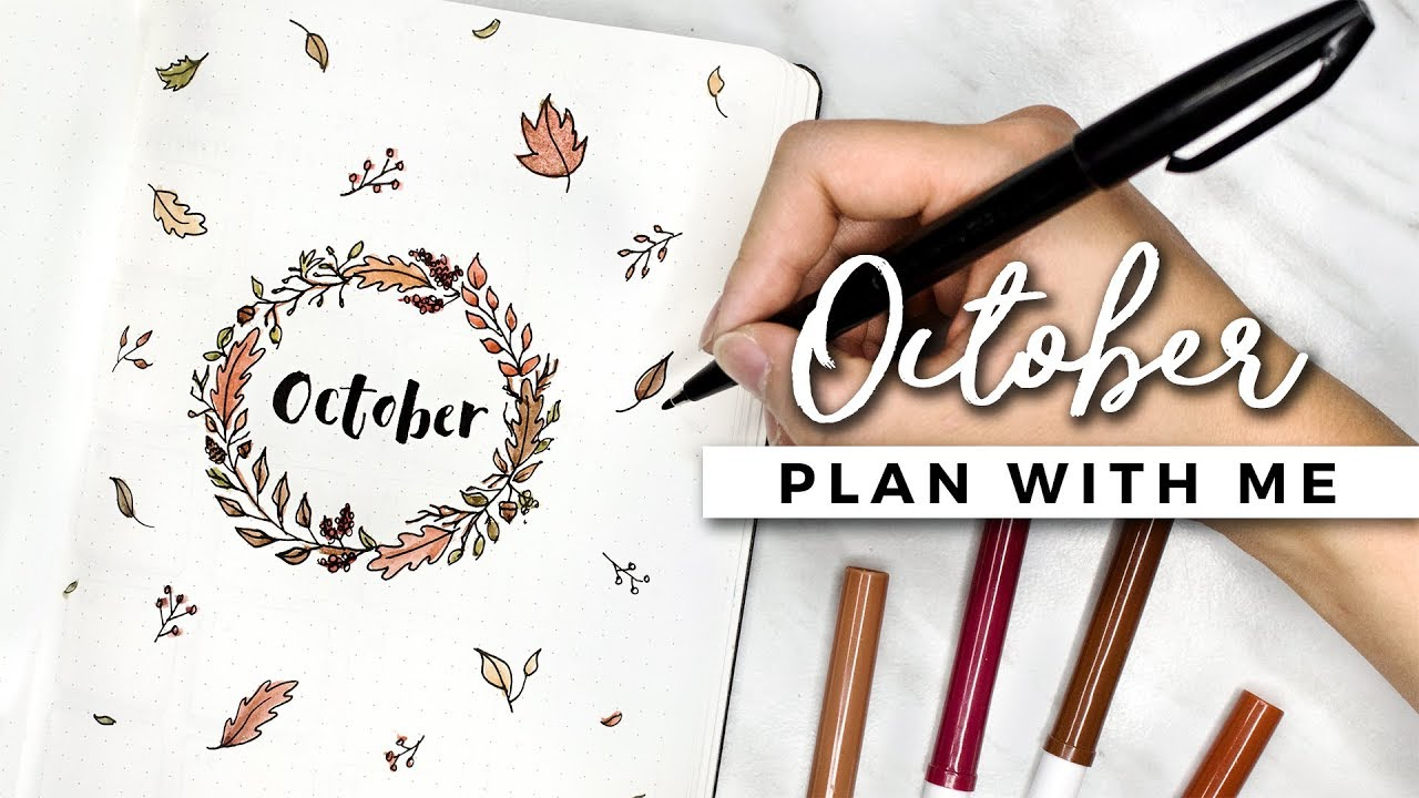 Plan with me october 2017 bullet journal setup youtube for Plan me