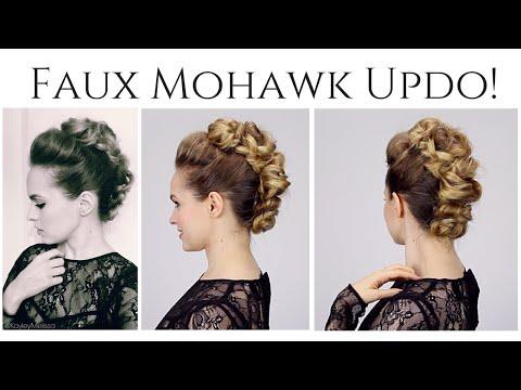 Faux Mohawk Updo!