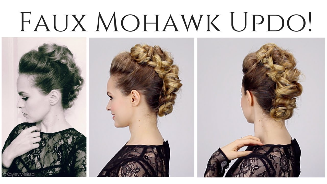 Faux Mohawk Updo! - YouTube