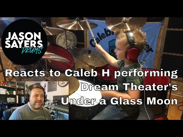 Drummer reacts to Caleb H - Dream Theater - Under a Glass Moon