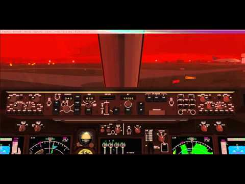IFly 747-400 V2 Cold and Dark Start + flight and ILS Landing