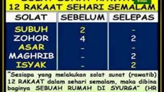 AAM 2018 Kelebihan Solat Sunat Rawatib 12 Rakaat Dibina Sebuah Mahliga Di Syurga