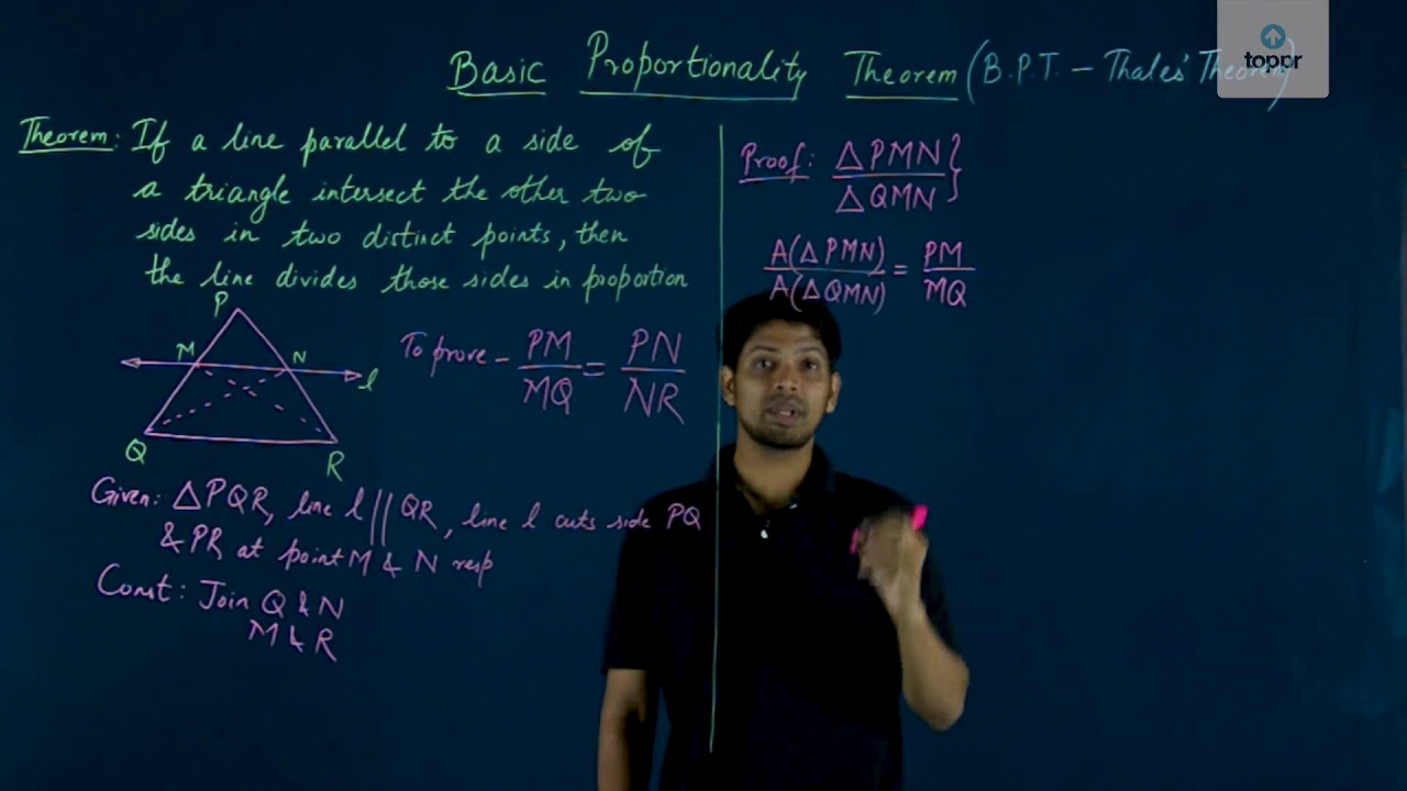 Basic Proportionality Theorem And Equal Intercept Theorem: Toppr Guides