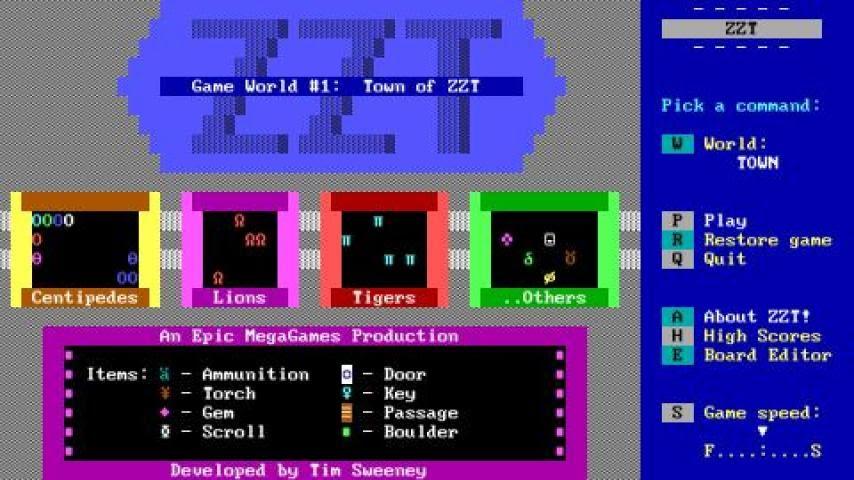ZZT gameplay (PC Game, 1991) - YouTube