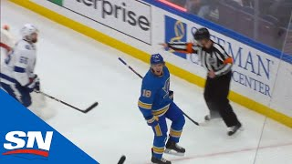 St. Louis Blues Erupt For Three Goals In 75 Seconds Against Lightning