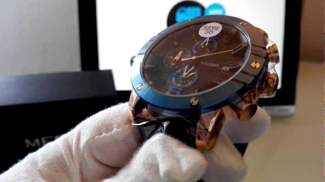Elegans.cz  Hodinky Megir   Unboxing Megir watch with chronograph ... 94767f338a