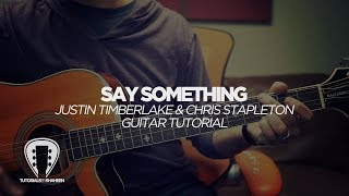 "Learn ""say something"" by justin timberlake, featuring chris stapleton on acoustic guitar! fast and easy lesson; simple tutorial. you'll be playing this song in no time!, sure to click ""like"" ..."