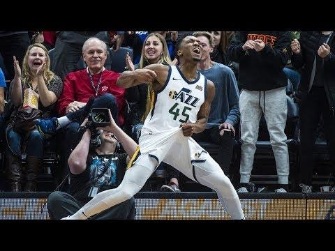 Rookie Donovan Mitchell 41 Points Career High! Anthony Davis Injury Pelicans vs Jazz 2017-18 Season