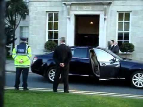 Ireland's Treasonous President McAleese meets with War Criminal Rockefeller WMV V9
