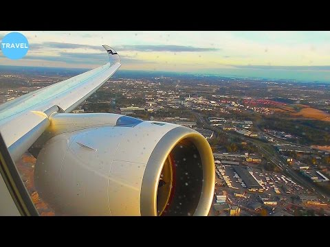 BEST ENGINE VIEW EVER? FINNAIR A350 Sunny Takeoff from Helsinki!
