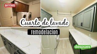 TRANSFORMACION DE MI CUARTO DE LAVADO 😍 EPOXY COUNTERTOPS- remodelación de mi lavandería