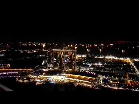 Marina Bay sands night lights show
