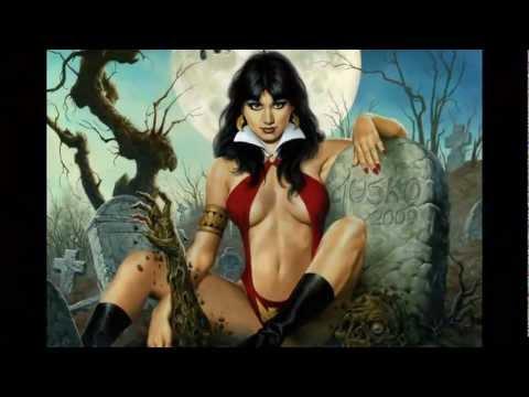 Fantasy Art - Vampirella - Joe Jusko (Motley Crue-Red Hot)