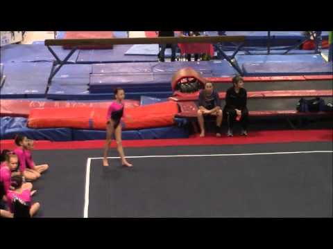 8 year old Level 5 at 2015 Gym Nevada Challenge