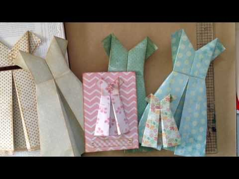 how to fold a simple paper dress.. a card or ...
