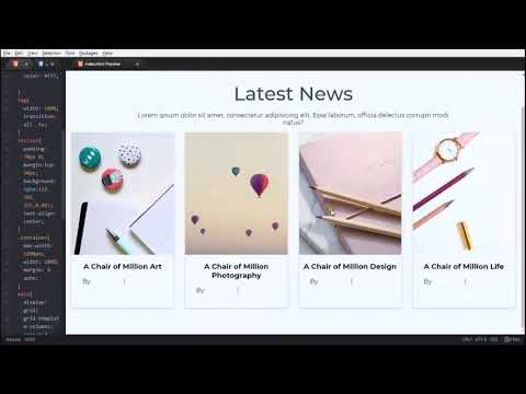 Responsive Blog Section Using CSS Grid | HTML/CSS3 (No Bootstrap)