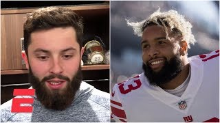 Baker Mayfield reacts to OBJ trade: 'It's an exciting time to be in Cleveland' | NFL Sound