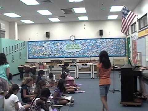 Teaching Example:  Music Lesson with 4th Graders