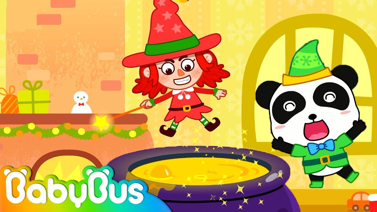Witch Fixes Baby Panda\'s Toys | Do Magic for Christmas Gifts ...