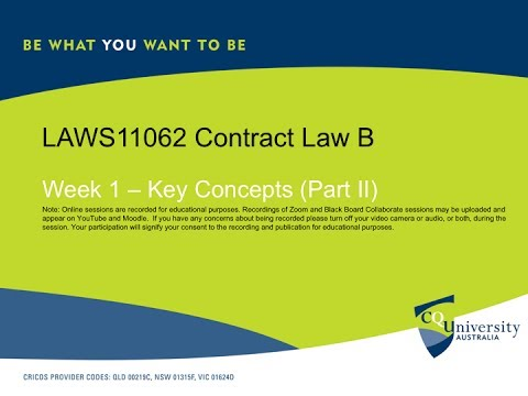 Contract B Week 1 Key Concepts Part II