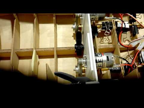 """Engineering engine drivetrain for the rc """"Ocean Wave"""" tugboat scale 1:50"""