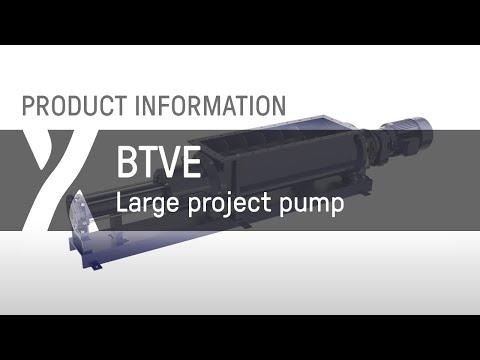 Trichterpumpe: BTVE - Massive Schnecke mit einstellbarem Kompressionsgehäuse