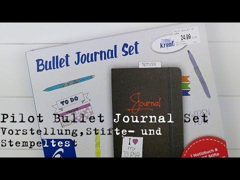 Pilot Bullet Journal Set - Vorstellung und Stifte-/Stempeltest