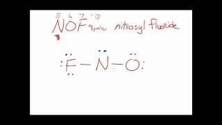 Nof lewis dot structure molecular geometry bond angle ...