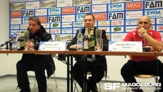 Pressekonferenz - 1. FC Magdeburg gegen FC Energie Cottbus II 2:2 (2:0) - www.sportfotos-md.de
