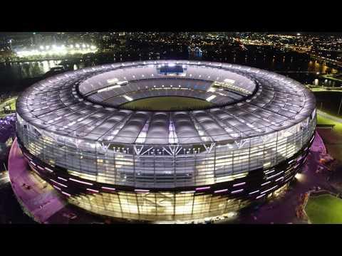 Optus Stadium Light Show
