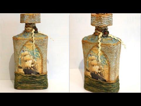 DIY Glass Bottle Home Decor | Bottle decoration ideas