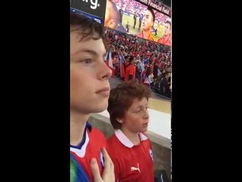 Himno partido Chile vs Panama