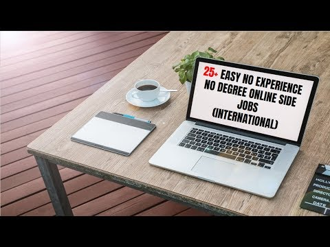 25+ Easy No Experience No Degree Online Side Jobs (International)