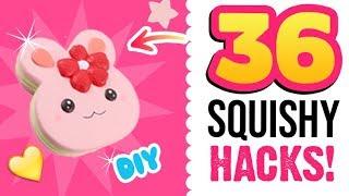 36 SQUISHY HACKS! LANGSAMERE Squishies!!! DIY Tipps und Tricks zum Basteln!