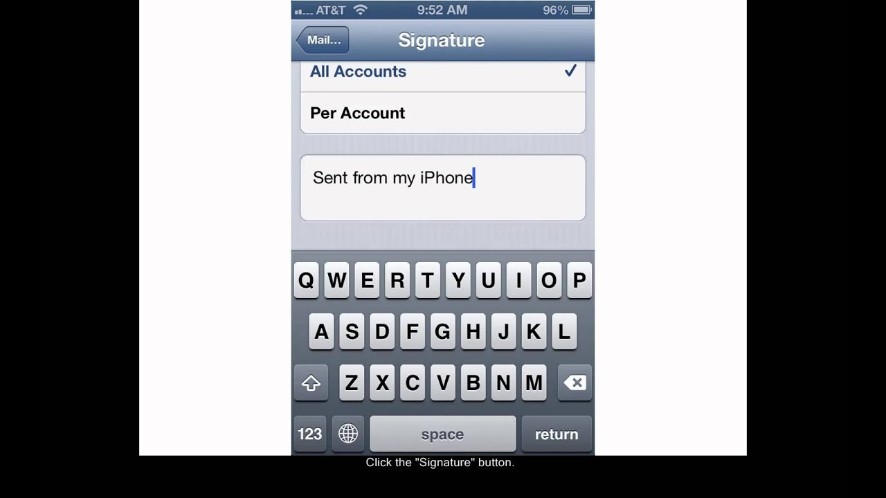iphone email signature how to set an iphone email signature 11814