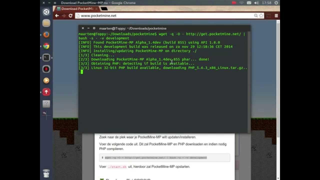 Linux How To Setup Mcpe Server YouTube - Minecraft pe server erstellen linux