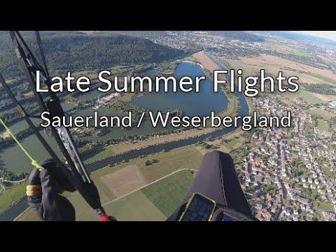 Late Summer Flights - Letzte Flüge im Sauerland und Weserbergland, mit dem Sky Apolllo 2