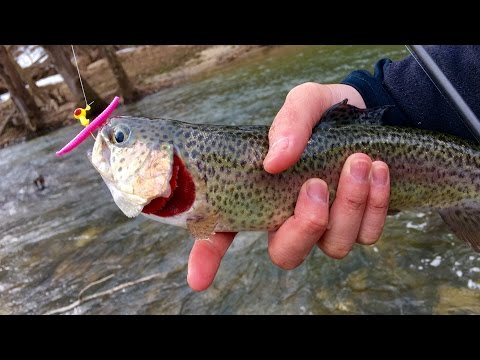 Trout Fishing with Pink Worms?