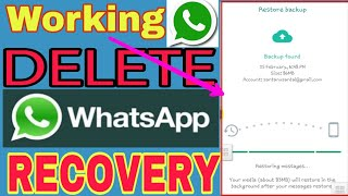 Deleted WhatsApp Messages Recovery  in Android.