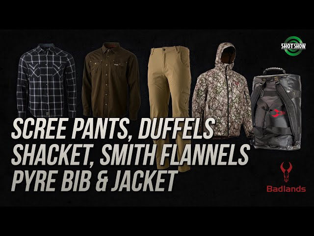Badlands Hunting Gear Scree Pants, Flannel, Shacket - SHOT Show 2020