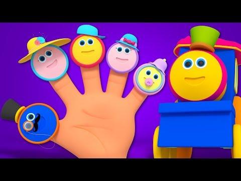 bob il treno | famiglia dito | bambino rima | Bob Train Finger Family | Preschool Rhyme | Kids Song