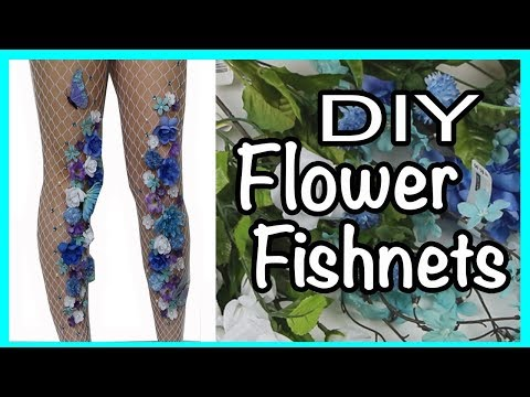 DIY Flower Fishnets!