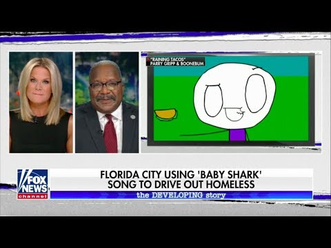 West Palm Beach Drives Away Homeless with Baby Shark Song Mp3