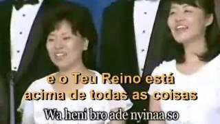 (legendado) Halleluja Nyame wo ye Ohene Ampa (Korean singers at a IYF camp meeting in Ghana)