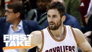 First Take reacts to Kevin Love starting as Cavaliers' center | First Take | ESPN