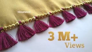 Simple, Quick & Very easy Saree Kuchu /Tassels /Design #86