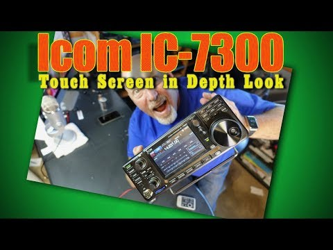 Icom IC-7300 Touch Screen In Depth Look K6UDA Radio