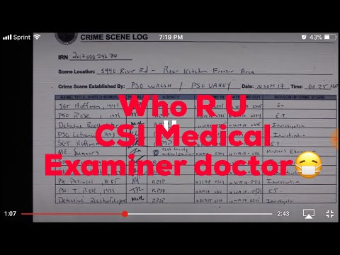 What's ur name CSI Medical Examiner ?