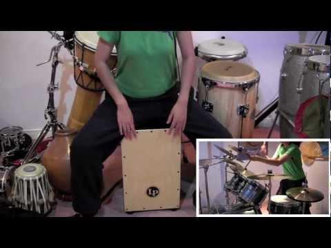 Chikni Chameli - Agneepath (Drum Set, Cajon, Indian Congas, Kanjira Cover)